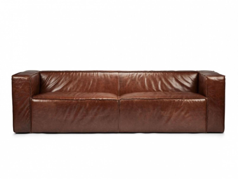 sofá fixo em couro - Zaika Mobiliário